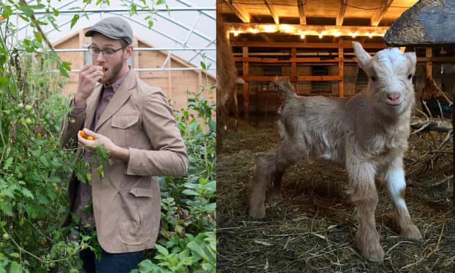 Thomas McCurdy enjoys raising goats for milk.