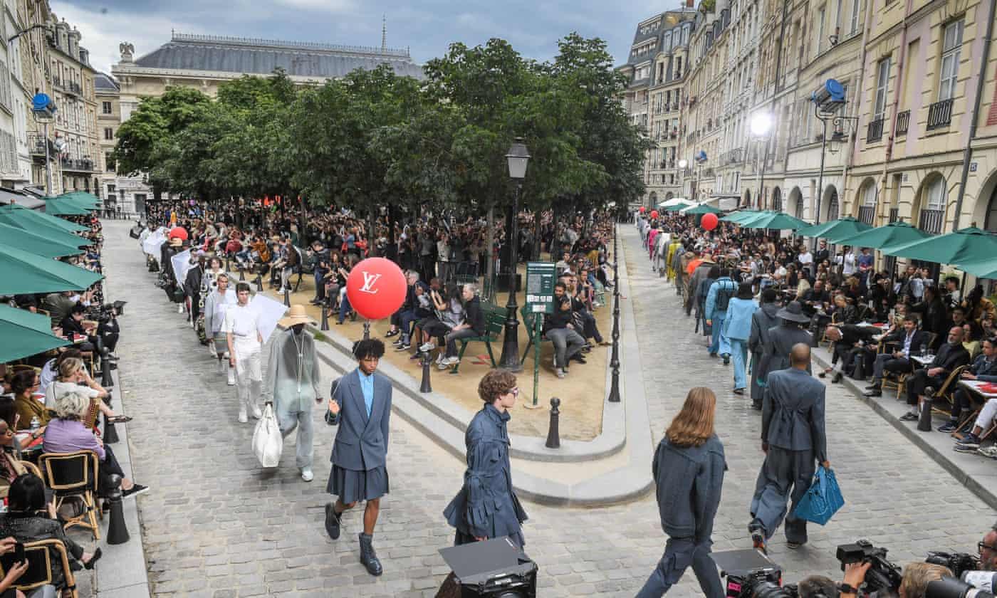 Louis Vuitton's show stages brand's love affair with Paris