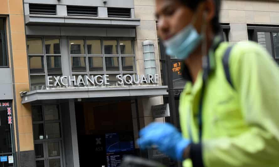 An exterior view of the Australian Securities Exchange (ASX) is seen in Sydney