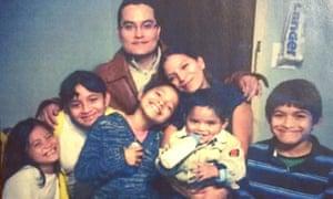 Rosa Ortega and her family.