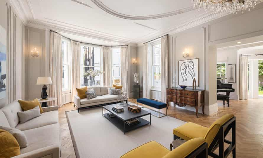 A large living room in a London 'super-prime' property