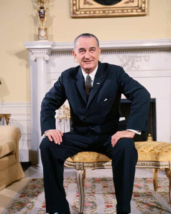 President Lyndon B Johnson in White HouseJanuary 1965