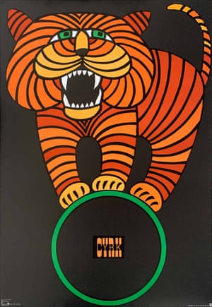 Tiger on a Hoop (circus poster), by Hubert Hilscher, 1966. From Projekt 26, the only UK store dedicated to the post-war Polish School of Posters