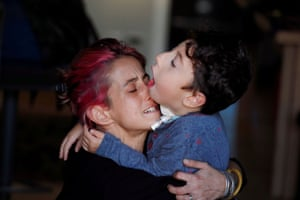 Rome, ItalySirio Persichetti, a seven-year-old Italian with tetraplegia and cerebral palsy who has become an influencer by challenging perceptions of disability, embraces his mother Valentina Perniciaro after coming home from school in Rome.