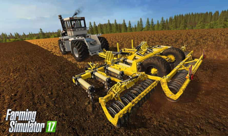 The simulation game allows farmers to run large operations and expensive machinery, like Big Bud tractors, out of reach for their own business