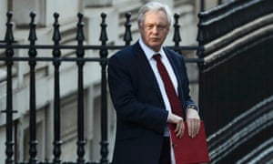 David Davis leaving No 10 before his statement today.
