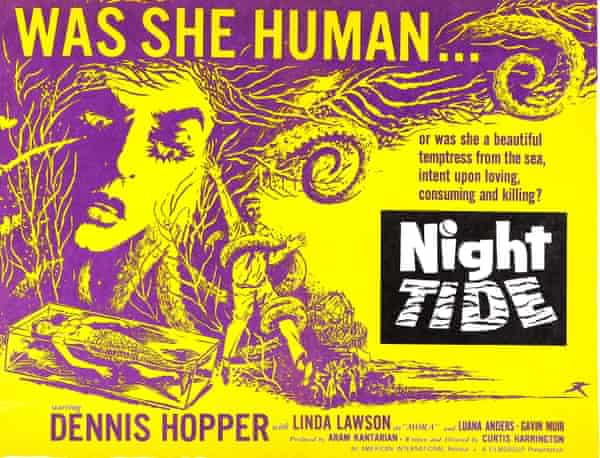 A poster for Night Tide by Curtis Harrington