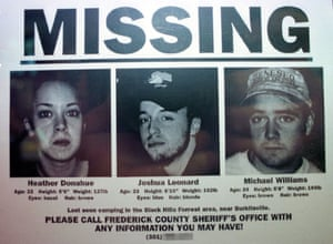 A promotional 'missing' poster used to coincide with the US release of The Blair Witch Project in 1999.