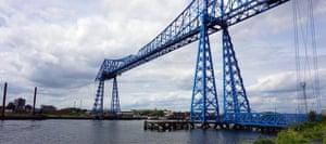 Middlesbrough Transporter Bridge over the Tees