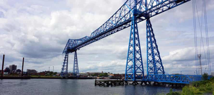 Middlesbrough Transporter Bridge over the Tees