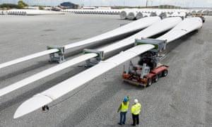 Siemens B75 wind turbine blades.