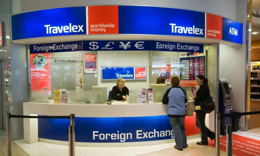 Travelex foreign exchange counter