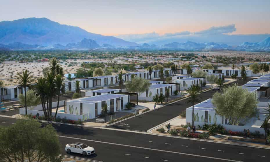 Plans for the five-acre 3D printed neighborhood in Rancho Mirage, California.