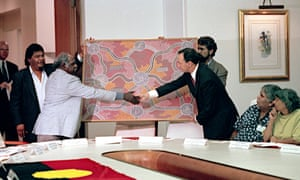 Indigenous representatives meet with ministers and Paul Keating following the high court's Mabo decision