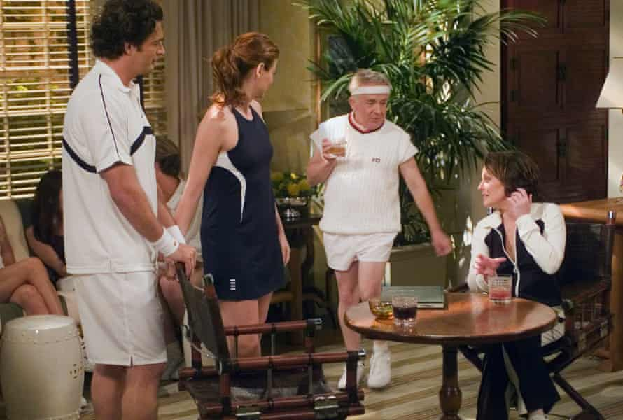 Harry Connick Jr. Debra Messing, Leslie Jordan and Megan Mullally in Will & Grace.
