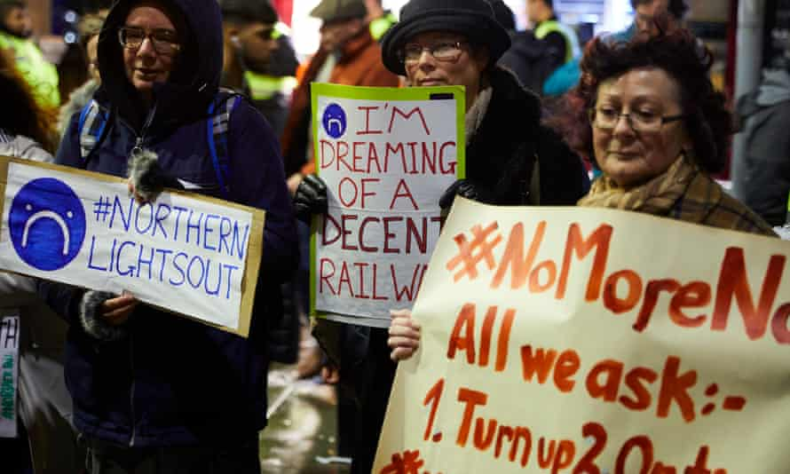 Demonstrators called new year price increases an insult to passengers.