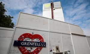 Messages of support outside Grenfell Tower where 72 people were killed by a fire in 2017.