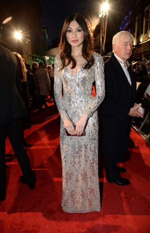 All human Gemma Chan, star of Humans, on the red carpet.