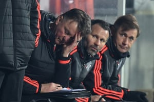 Manchester United manager Louis van Gaal looks forlorn during a dismal 2-1 defeat to Midtjylland in the Europa League last-32 first leg