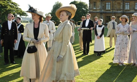 Brass with class … Engelke explores human values in the TV drama Downton Abbey.