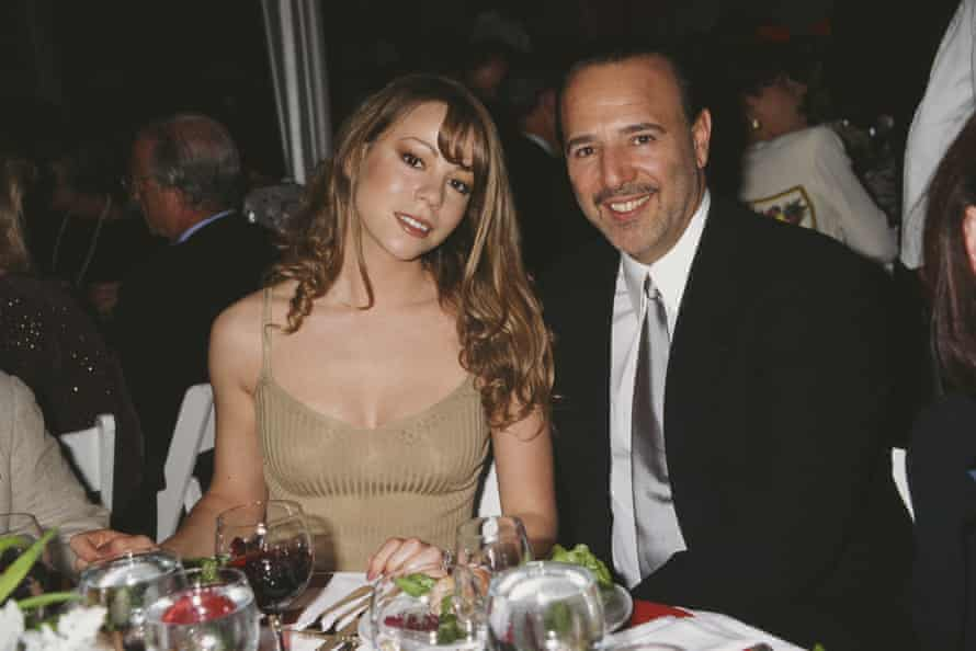 Carey with Tommy Mottola, then head of Sony Music, in 1995, two years after they married.