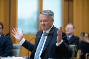 Mathias Cormann at Parliament House in October 2020, shortly before he left the Senate.