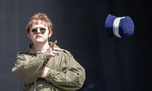Lewis Capaldi trolls Liam Gallagher by taking to the Other stage at Glastonbury in a parka.