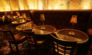 An interior view of Bemelmans Bar at the Carlyle Hotel, New York.