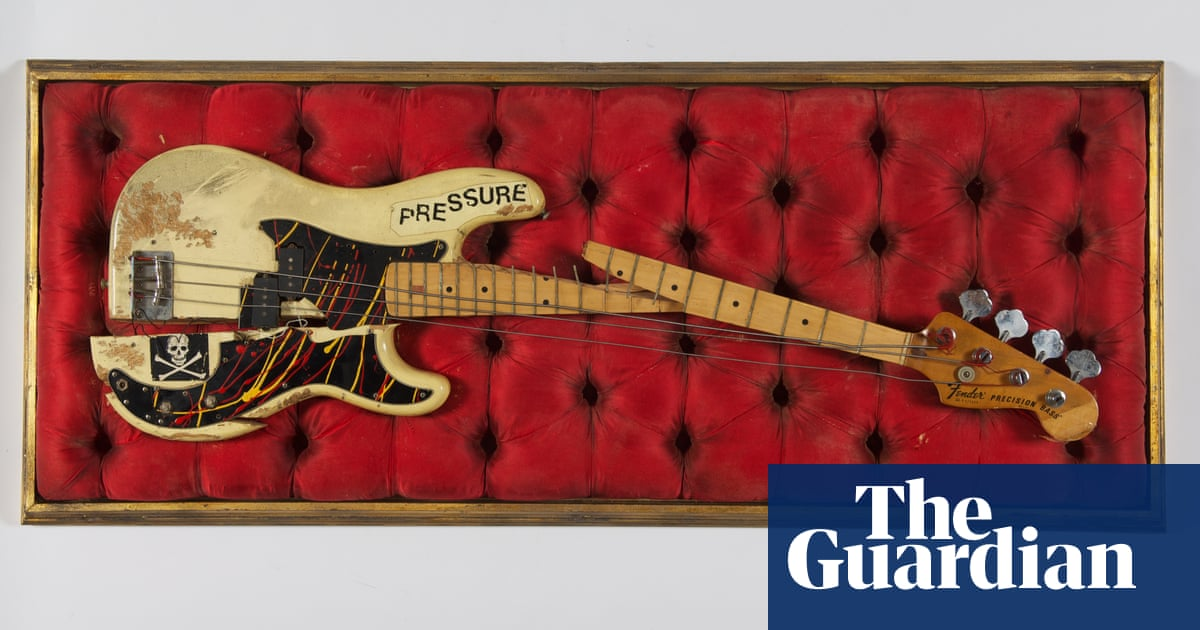 Bass guitar smashed at Clash gig to join relics at Museum of London