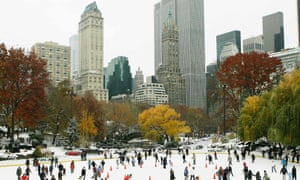 The Trump organization has removed the president's name from his two New York City ice skating rinks in Central Park.