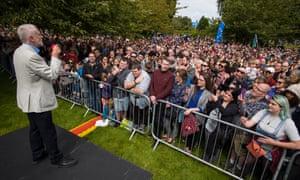 Jeremy Corbyn Labour rally Bangor