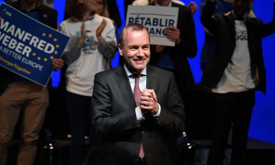 Manfred Weber at the Les Républicains party meeting in Strasbourg, France