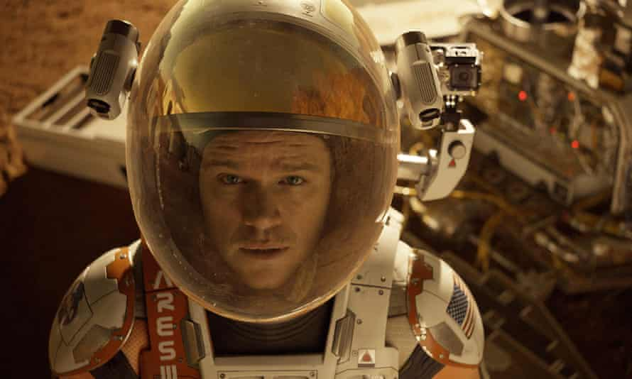 Matt Damon in a scene from the Oscar-nominated The Martian, which began its life as a self-published novel -- and independent audiobook.