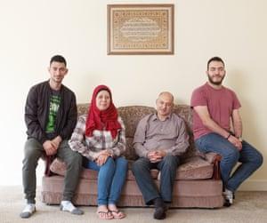 Syrian refugee family living in Birmingham.