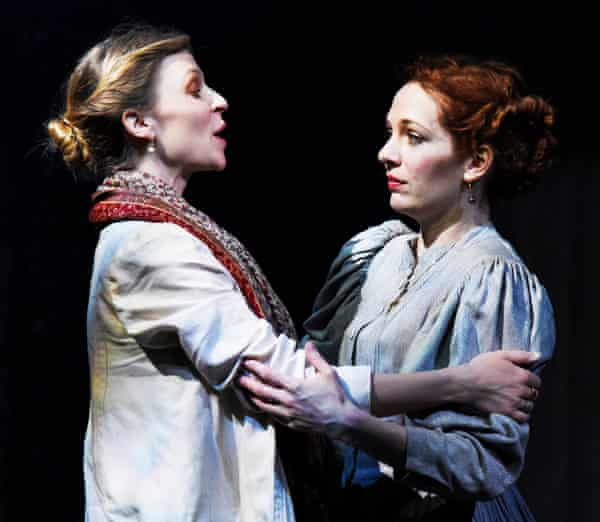 Clémence Poésy as Yelena and Katherine Parkinson as Sonya in Uncle Vanya.