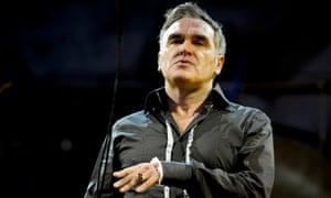 The singer Morrissey