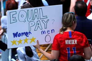 The victory also called attention to the team's fight for equal pay with their counterparts on the US men's national team, and equal pay for equal work for women in general