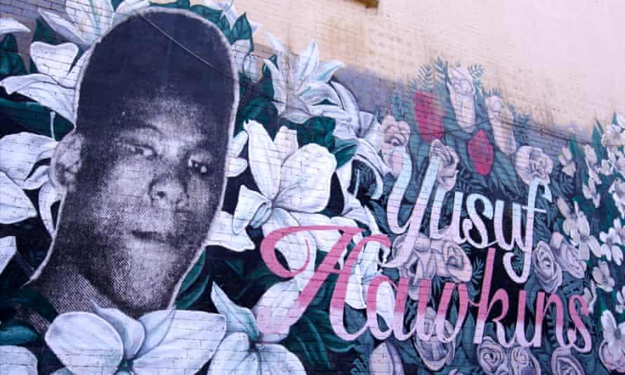 Mural dedicated to Yusuf Hawkins in Bedford-Stuyvesant, Brooklyn painted by Gabriel Specter.