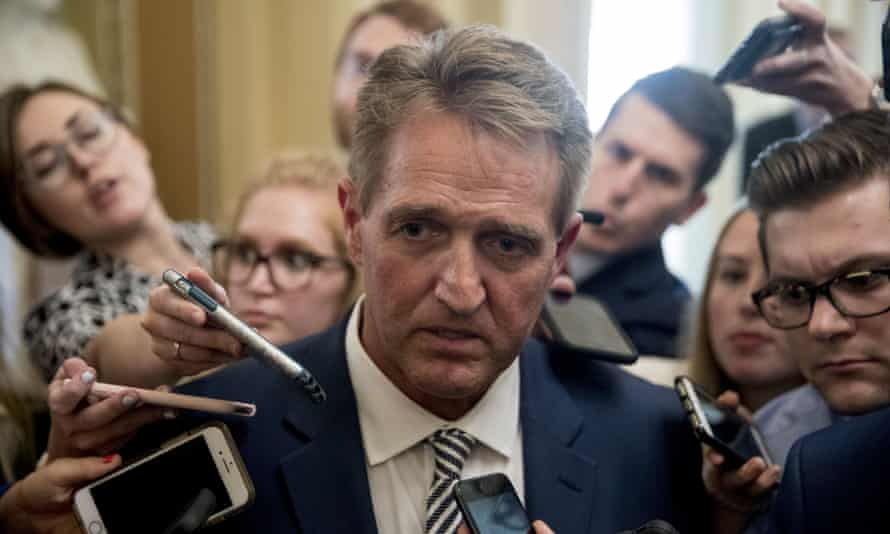 Jeff Flake after the vote.