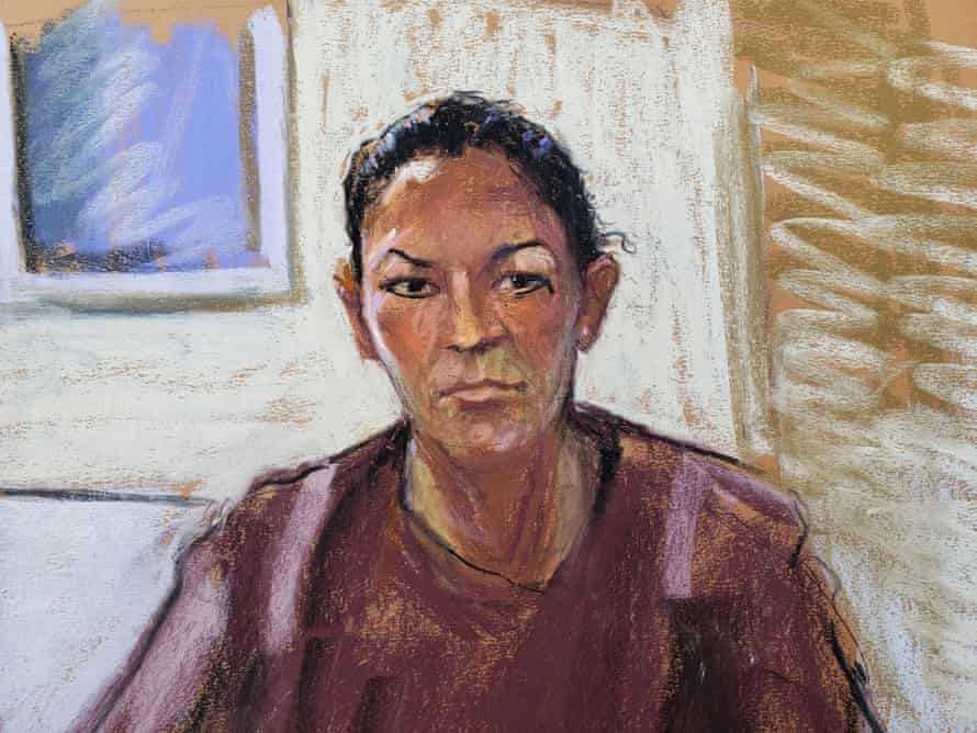 Ghislaine Maxwell appears via video link during her arraignment hearing in Manhattan federal court, on 14 July 2020 in this courtroom sketch.