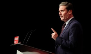Keir Starmer speaking at the Labour conference.