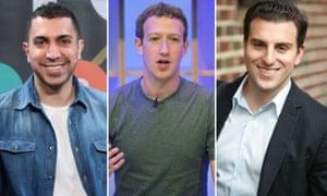 Sean Rad, Mark Zuckerberg and Brian Chesky