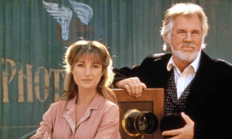 Kenny Rogers and Jane Seymour in the TV show Dr Quinn, Medicine Woman in 1993.