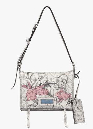 Etiquette printed leather bag, £1,860, by Prada.