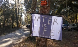 Opponents of the Sabal Trail pipeline say it is not only harming the natural beauty of the Suwannee river but also doing irreversible environmental damage.