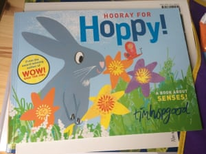 Hooray for Hoppy by Tim HopgoodReviewed by Steffi and Mira Hoppy is sitting in his hole and wondering if Spring has finally sprung. So he decides to venture out and explore to see if it smells, feels, tastes, sounds and looks like spring. And indeed it does. Hooray! A lovely book to explore the senses. Mira likes to join in with the 'hoorays' when Hoppy finds that Spring has sprung particularly when all his friends come and join in the fun.