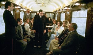Anthony Perkins, Vanessa Redgrave, Sean Connery, Albert Finney, Michael York, Jacqueline Bisset and Lauren Bacall in Murder on the Orient Express, 1974