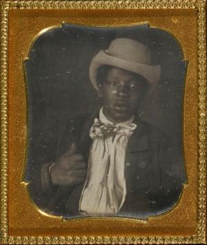 Portrait of a black man wearing a bow tie (Gentleman Caller), c1856. Unknown photographer, US, daguerreotype