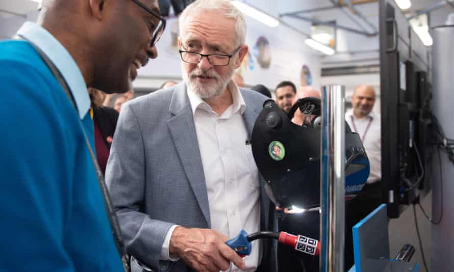 Jeremy Corbyn on a visit to Walsall college of further education