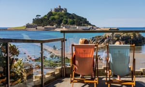 View of St Michael's Mount from the Godolphin Arms.